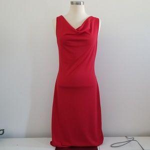Sexy red sleeveless dress